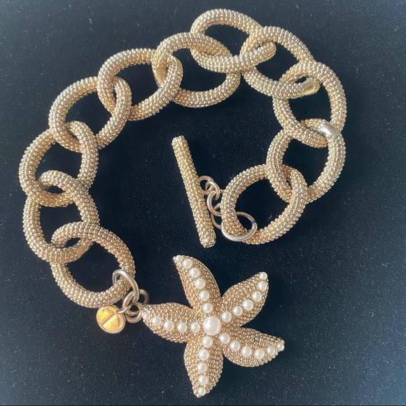 Talbots starfish chunky link toggle bracelet